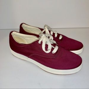 Keds purple low top with white laces size 7.5